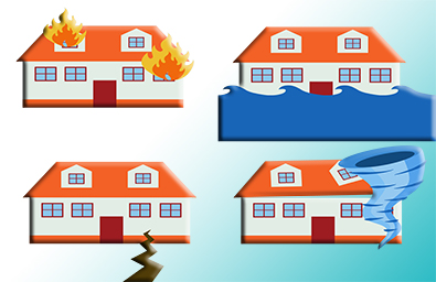 Home insurance from natural disasters vector concept